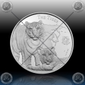 "1oz NIUE $1 Dollar 2015 ""THE TIGER"" BU - Prooflike"