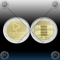 ANDORRA 2 x 2 EURO 2017 (ANTHEM + PYRENEAN COUNTRY) UNC