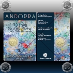 ANDORRA 2 EURO 2018 (Human Rights) UNC