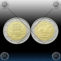 ANDORRA 2 x 2 EURO 2015 (Customs Agreement + Political Rights) UNC