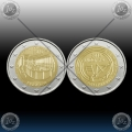 ANDORRA 2 x 2 EURO 2016 (New Reform 1866 + Radio and Television) UNC