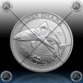 "1/2 oz ""The Perth Mint"" 50 Cents 2016 ""TIGER SHARK"" UNC"