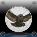 "1oz KANADA $5 Birds of Prey ""Great Horned Owl"" 2015 - BARVNI"