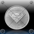 """1oz KANADA $5 Dollars 2016 """"SUPERMAN"""" UNC"""