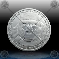 "1oz CONGO 5000 Francs CFA ""SILVERBACK GORILLA"" 2016"