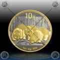 """1oz KITAJSKA """"Panda"""" 2013 (Black Rhodium + Gold)"""