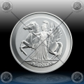 "1oz BRITISH VIRGIN ISLANDS 1 Dollar 2017 ""PEGASUS"" BU"