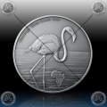 "1oz GHANA 5 Cedis ""FLAMINGO"" 2016  Antique Finish"