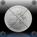 """1oz NIUE - LUNAR  """"Year of the Dog"""" 2 Dollars 2018"""