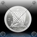1oz ISLE OF MAN 1 NOBLE 2018 (VIKING LONGBOAT SHIP) BU
