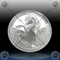 "1oz BRITISH VIRGIN ISLANDS 1 Dollar 2018 ""PEGASUS"" BU"
