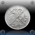 1oz KANADA $5 Dollars 2017 (LUNAR - Year of the Rooster) UNC