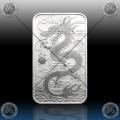 "1oz ""The Perth Mint"" 1 Dollar 2018 (ORIENTAL DRAGON - Rectangular) BU"