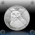 "1oz GHANA 5 Cedis 2017 ""SEA LIFE PROTECTION - SEAL *BU"