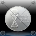 "1oz RUSIJA 3 Rubles 2018 ""FIFA - World Cup in Russia"" UNC"