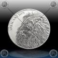 "1oz CHAD 5000 Francs CFA ""AFRICAN LION"" 2018"