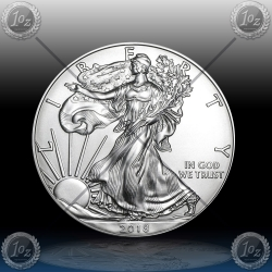 "1oz ZDA $1 ""Silver Eagle"" 2018"
