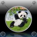 "1oz (30g) KITAJSKA ""Panda"" 10 Yuan 2020 * COLOR"