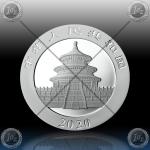 """1oz (30g) KITAJSKA """"Panda"""" 10 Yuan 2020 * Lighting ICE Edition"""