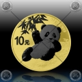 "1oz (30g) KITAJSKA ""Panda"" 10 Yuan 2020 * Gold Space Edition"