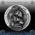 1oz RUANDA 2020 (Nautical Ounce - MAYFLOWER) Antique Finish / High Relief