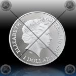1oz AUSTRALIJA $ 1 DOLLAR 2019 (BOTTLENOSE DOLPHIN) BU