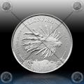 1oz BARBADOS $1 Dollar 2019 (LIONFISH) UNC