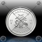 1oz BARBADOS $1 Dollar 2019 (LIONFISH) UNC