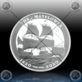 "1oz BRITISH VIRGIN ISLANDS 1 Dollar 2020 ""MAYFLOWER"" BU"