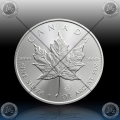 1oz KANADA $5 (Maple Leaf)  2019 *UNC