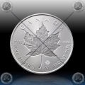 "1oz KANADA $5 ""INCUSE MAPLE LEAF"" 2019 *UNC"