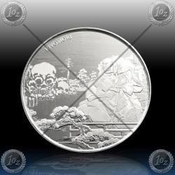 1oz FIJI $1 Dollar 2018 (SAMURAI ARCHIVES - KIYOMORI) UNC