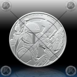 1oz NIUE 2 Dollars 2020 (STAR WARS - Boba Fett) UNC