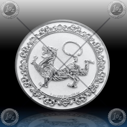 "1oz NIUE 2 Dollars 2019 ""Celestial Animals - White Tiger"" BU"