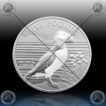 1oz ALDERNEY 5 POUNDS 2019 ( SILVER PUFFIN ) BU