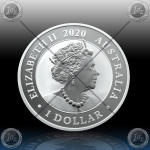 "1oz ""The Perth Mint"" 1 Dollar 2020 (Australian SWAN) BU"