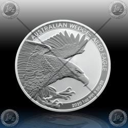 1oz AUSTRALIJA $1 (Wedge Tailed Eagle) 2020 *BU