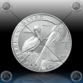 1oz BARBADOS $1 Dollar 2020 (PELICAN) UNC