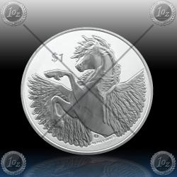 """1oz BRITISH VIRGIN ISLANDS 1 Dollar 2020 """"PEGASUS"""" BU"""