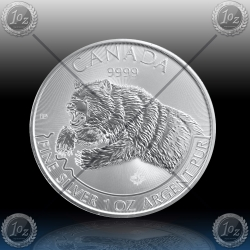 1oz KANADA 5 Dollars 2019 (PREDATOR SERIES - GRIZZLY) UNC