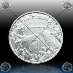 1oz DOMINICA 2 Dollars 2019 ( Parrot ) BU