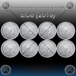 8 x 1oz (ECCB) 2 Dollars 2019 (Eastern Caribbean Central Bank) BU