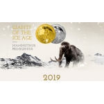 "1oz GHANA 5 Cedis 2019 ""Ice Age - Giant Deer"" BU"