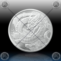 """1oz MEHIKA """"THE CHINESE - World of Dragons"""" 2019"""