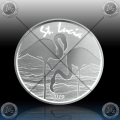 1oz St. LUCIA 2 Dollars 2019 (FLAMINGO) BU