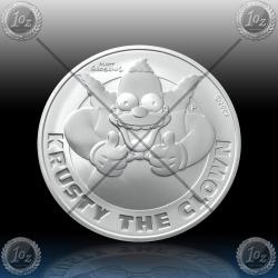 1oz TUVALU $1 (SIMPSONS - Krusty the Clown) 2020 * BU