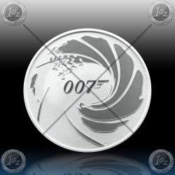 1oz TUVALU $1 Dollar 2020 (JAMES BOND 007) BU