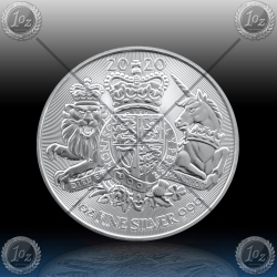 1oz V. BRITANIJA 2 Pounds 2020 (ROYAL ARMS) UNC
