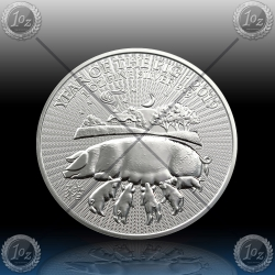 "1oz V. BRITANIJA 2 Pounds 2019 ""Year of the Pig"" UNC"