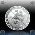 "1oz ""The Perth Mint"" 1 Dollar 2019 (BLACK FLAG - BLACKBEARD) BU"
